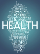 Word Cloud Image Graphic with Health related tags